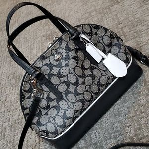 Coach Peyton Perforated PVC Domed Satchel
